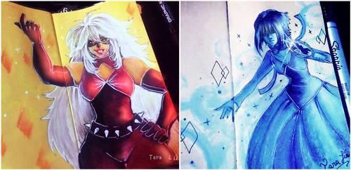 Black Jasper and Lapis - AU Steven Universe -