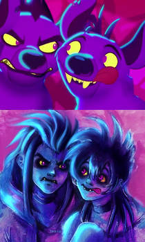 Janja and Cheezi - The lion Guard -