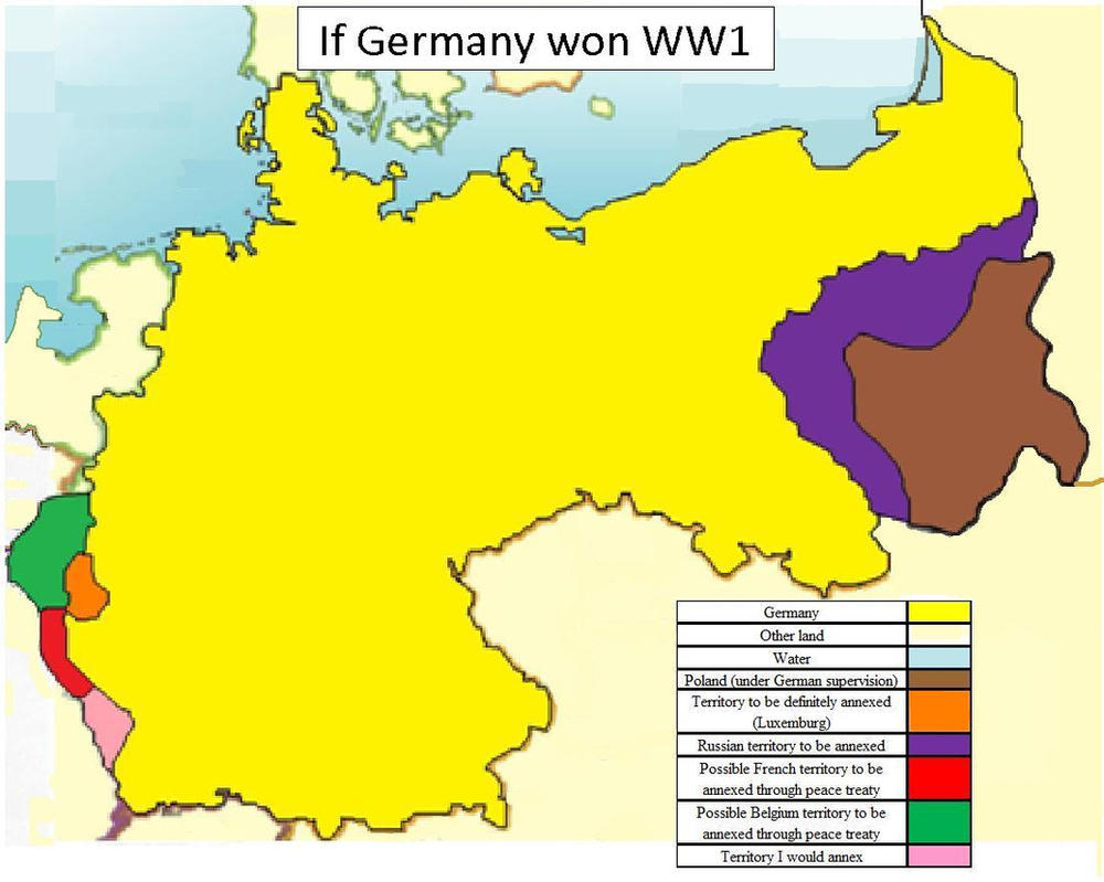 If Germany won WW1 by ...