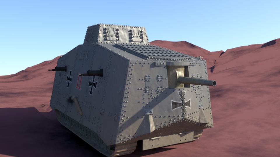 A7V Sturmpanzerwagen 3D model by wptaimuty