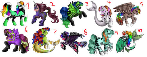 Adopts (2 points each) by dragonlover1234567