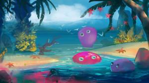 Happy summer algae blobs