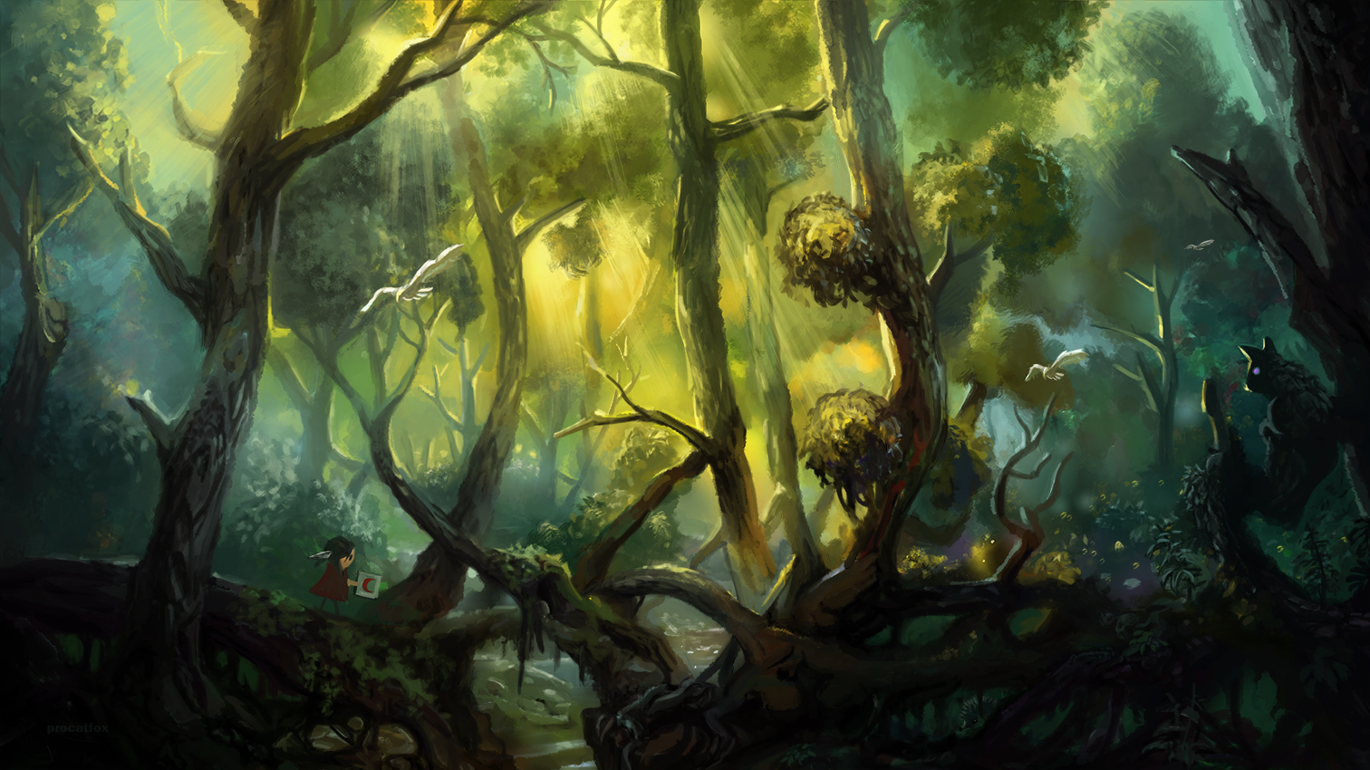 Find the hedgehog fantasy forest