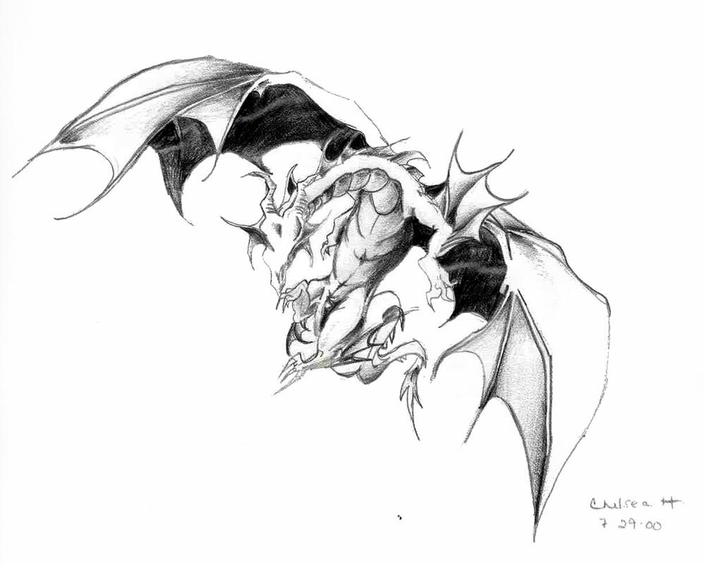 Dragon Drawings in Color Flying Dragon Pencil Drawings