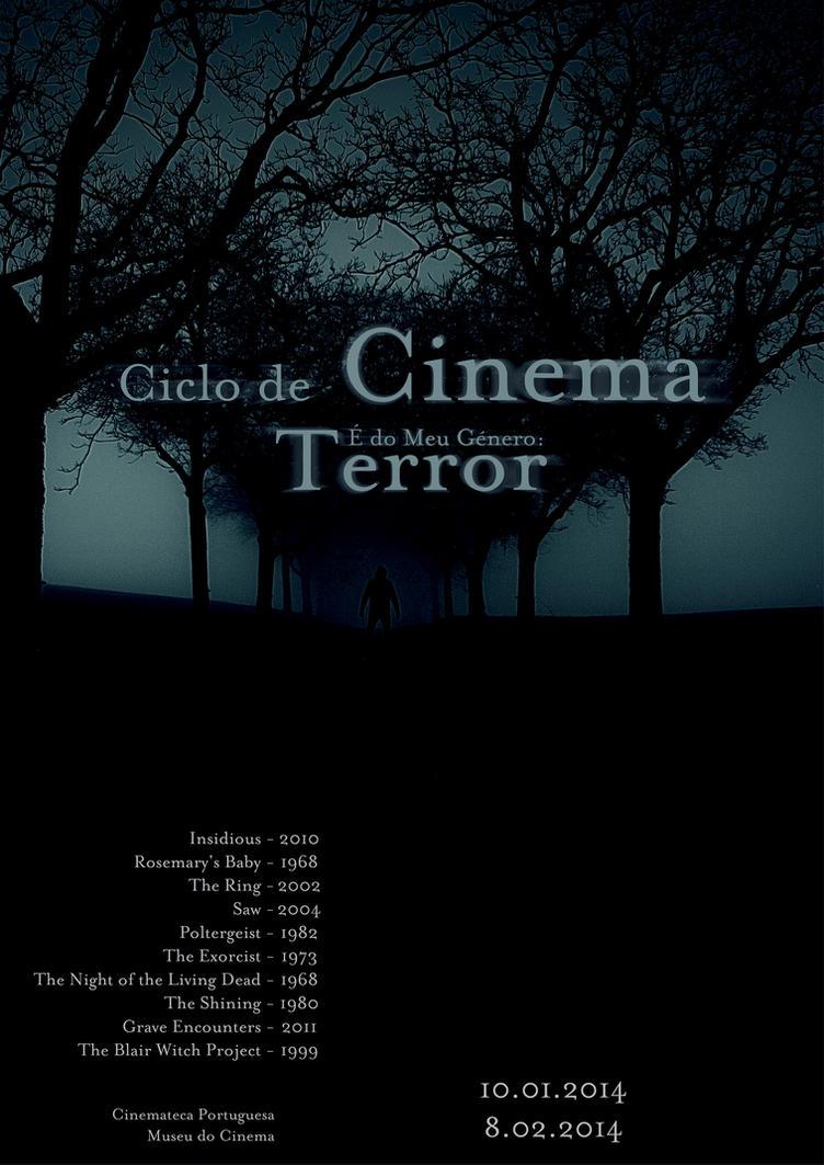 Cartaz - Ciclo de Cinema - terror by Hyperimus