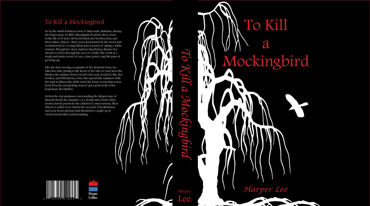 Book Cover Black Jacket : To kill a mockingbird book jacket by suicideblues on