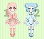 [OPEN] Adoptables: Kawaii Set by HyakuMaru