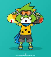 rufu the skaterwolf by momozahied
