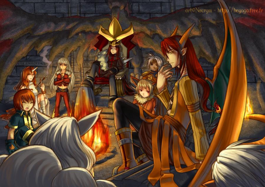 Image de jeux video - Page 2 PKMN__The_Fire_Gang_by_Nacrym