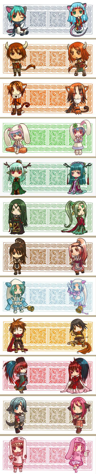 Chinese Zodiac Mugs by Nacrym