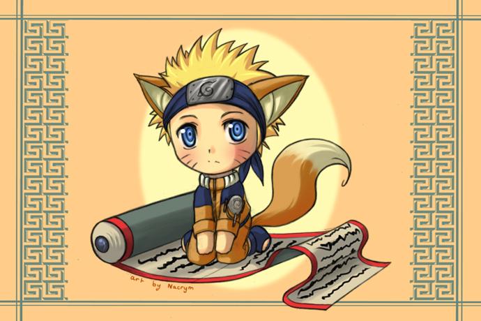 Naruto: Chibi Kitsu-Naruto by Nacrym