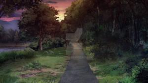 Parkroad-sunset