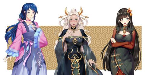 3 chinese girls sprite