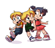 Ken, Knil, and Ruby, Best Friends - By Tato