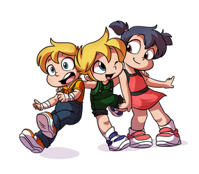 Ken, Knil, and Ruby, Best Friends - By Tato by Kenny-TykeTales