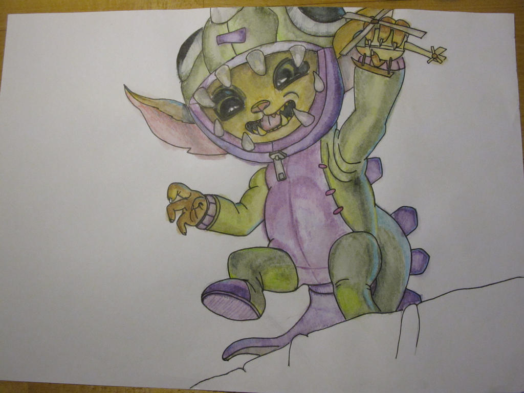 League of Legends Dino Gnar Drawing by ILommiI on DeviantArt