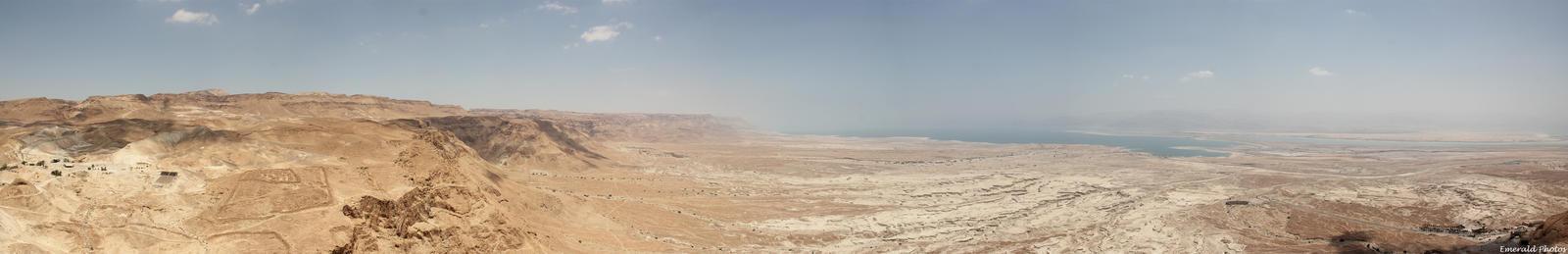 Masada Panorama by greenjinjo