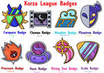 Korza League: Badges