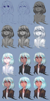 Grey to Color process