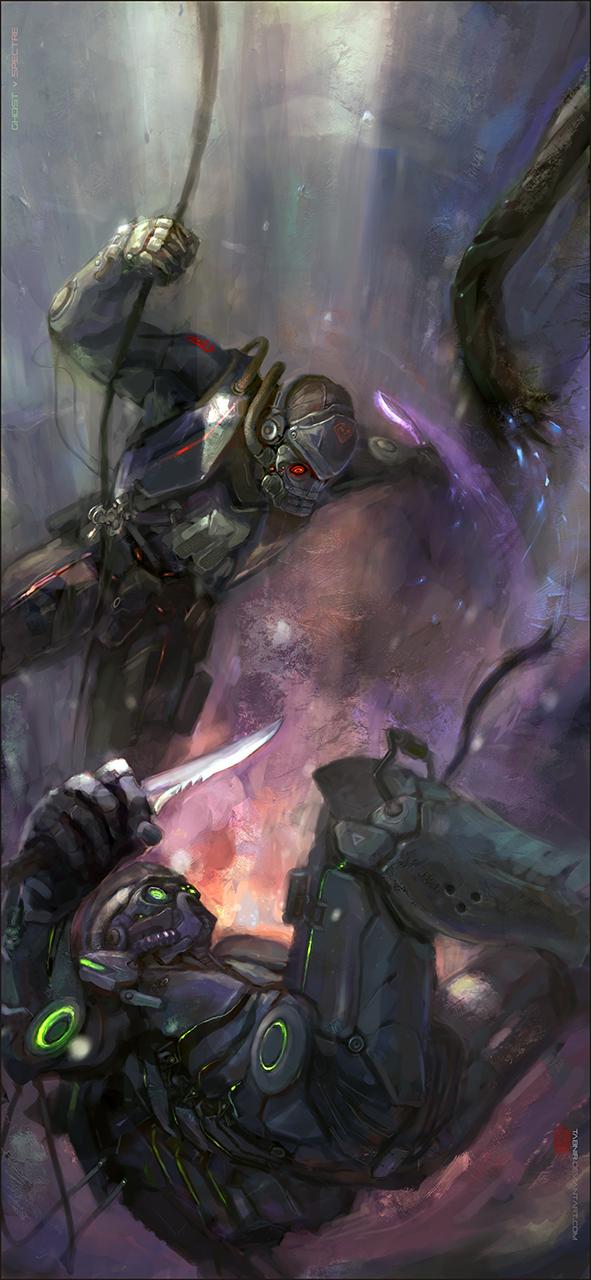 Starcraft 2: Ghost vs Spectre by Tabnir