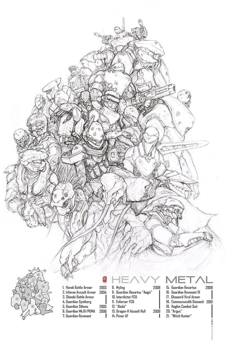 Heavy Metal: 7 Years of War by Tabnir