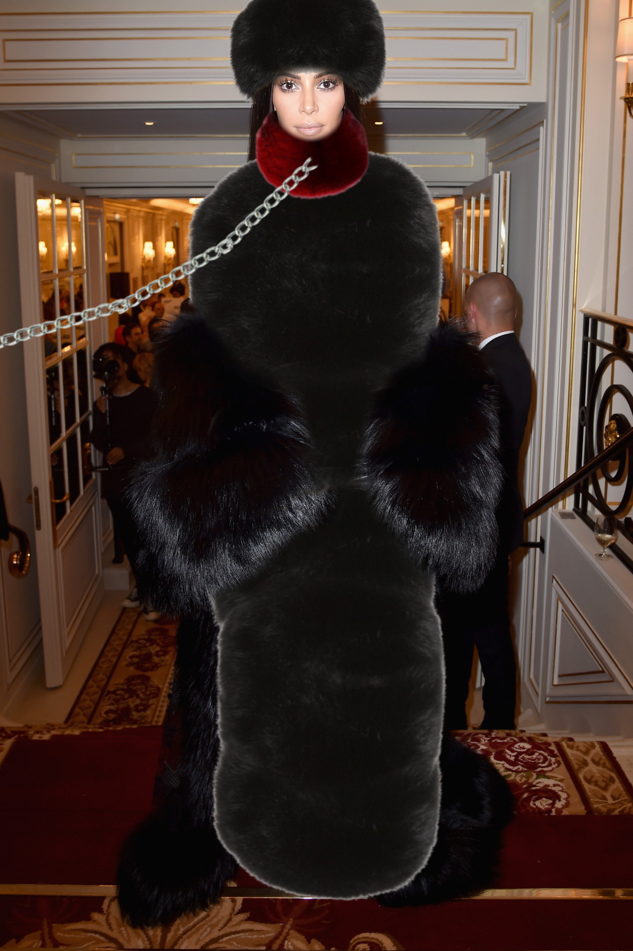 Kim Kardashian fur enslaved by WhiteSnowQueen on DeviantArt