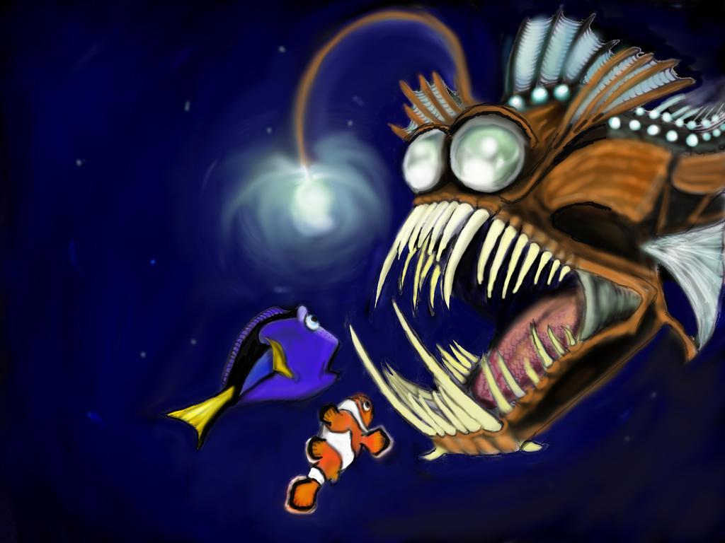 Finding nemo by slopez990 on deviantart for Finding nemo angler fish