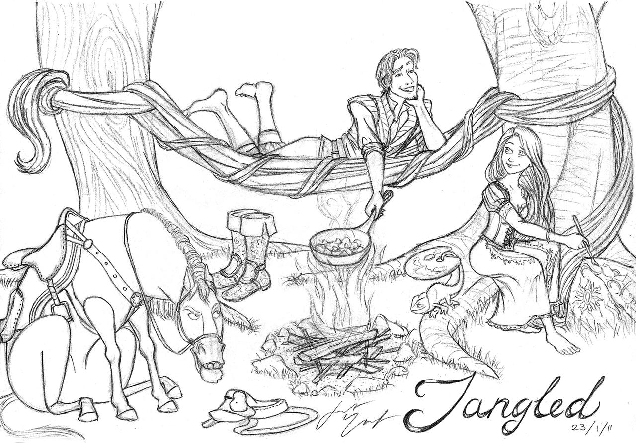 Tangled Campfire WIP By PharMafia Soldier