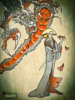 Thranduil and Dragon by tabukomi