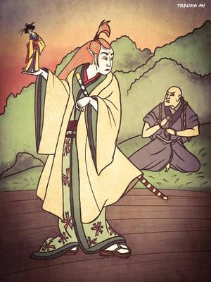 Sauron and Gorlim by tabukomi