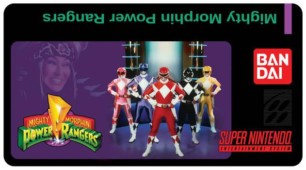 Mighty Morphin Power Rangers SNES Custom Label