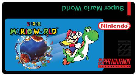 Super Mario World SNES Custom Label