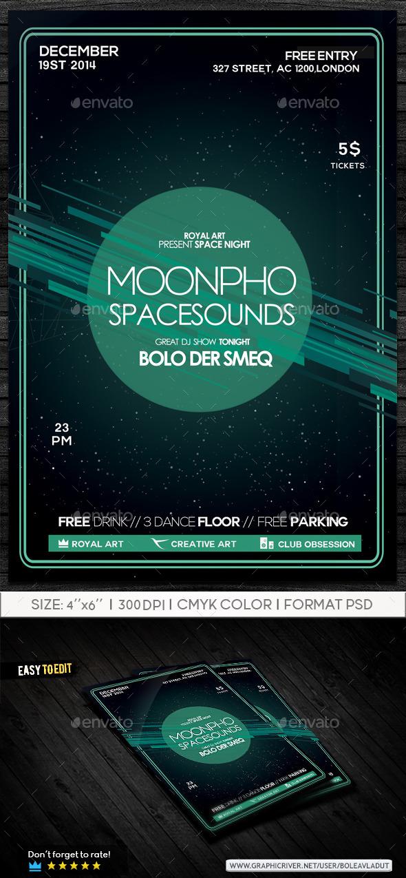 Party Space Flyer by RoyalArt-BoleaVladut