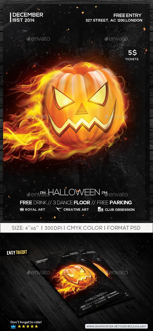 Halloween Flyer by RoyalArt-BoleaVladut
