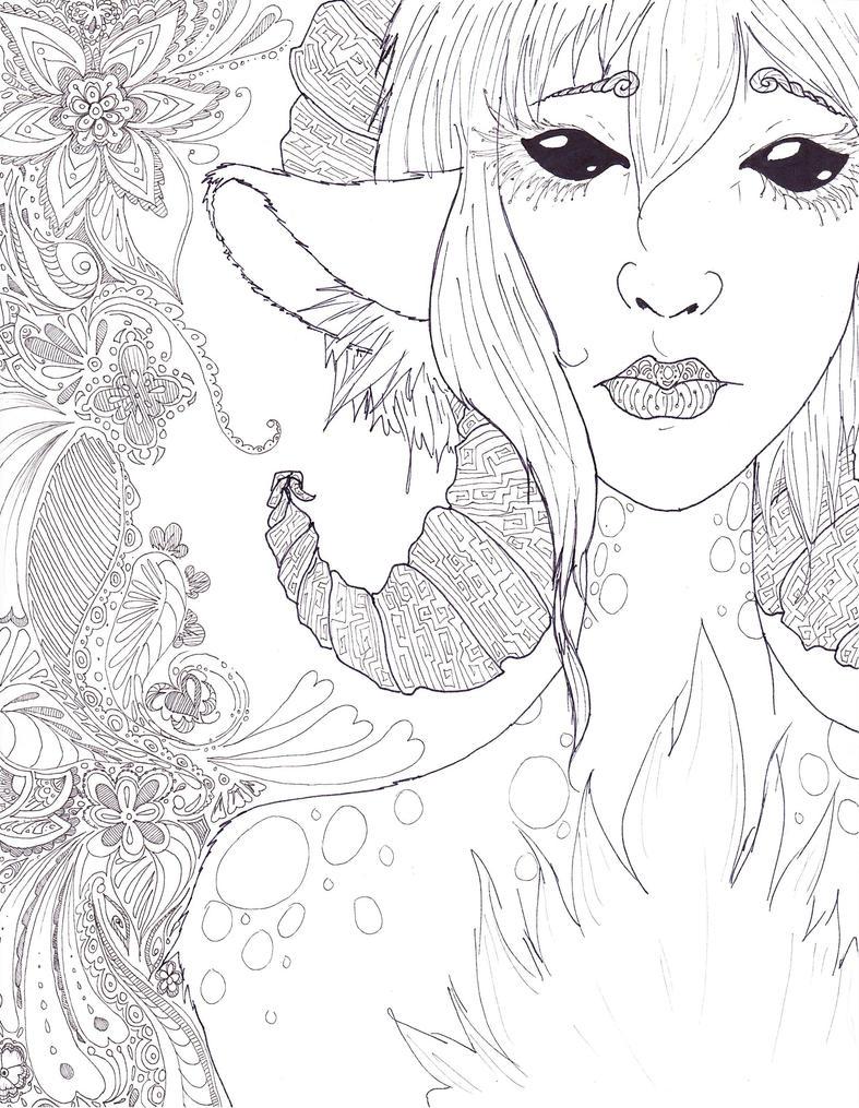 Spiral Deer Thing by WesaAda