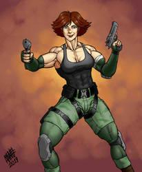 Meryl from Metal Gear Solid by SweMu