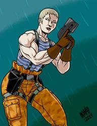 Olga from Metal Gear Solid 2 by SweMu