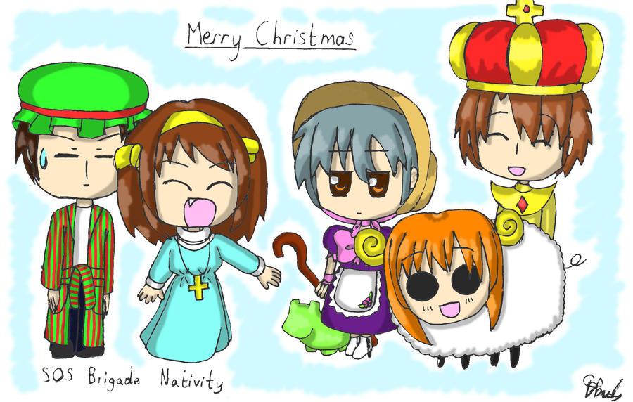The SOS Brigade Nativity by lillilotus