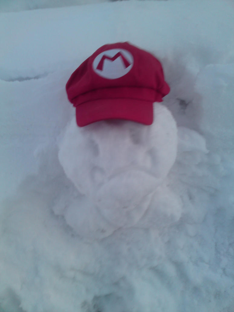 Goomba Snow Sculpture Mk. 2 by lillilotus