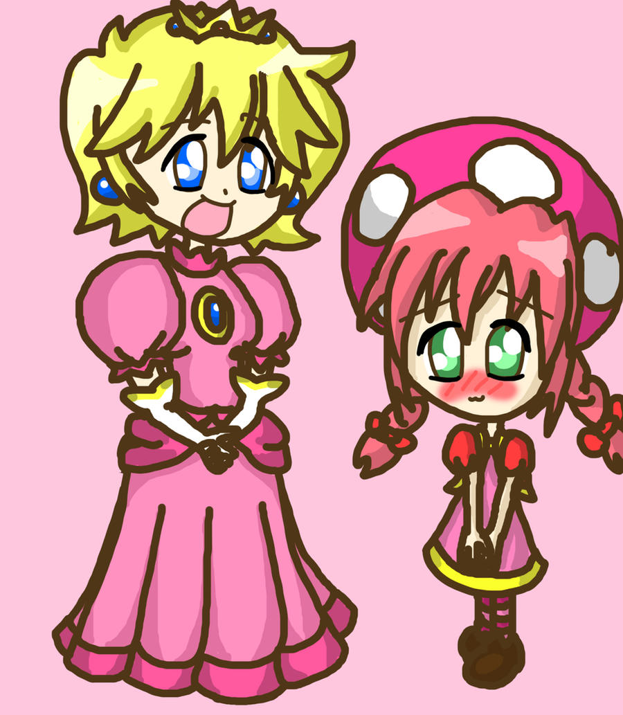 Peach And Toadette Cosplay by lillilotus