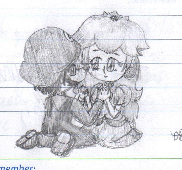 Doodle: MarioXPeach by lillilotus