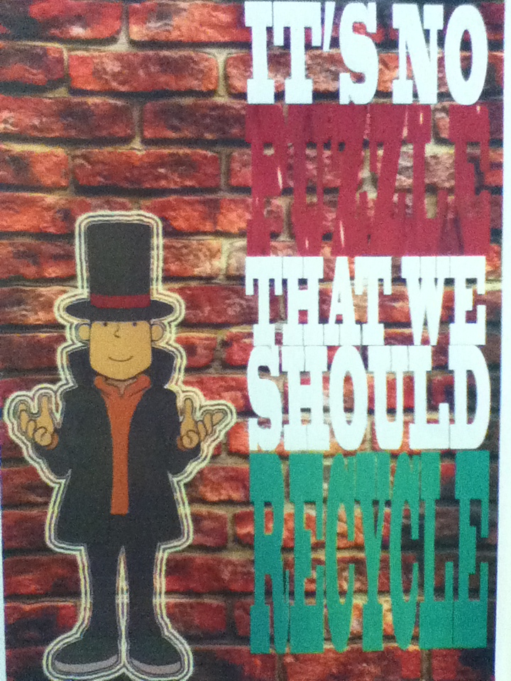 Layton Recycle Poster by lillilotus