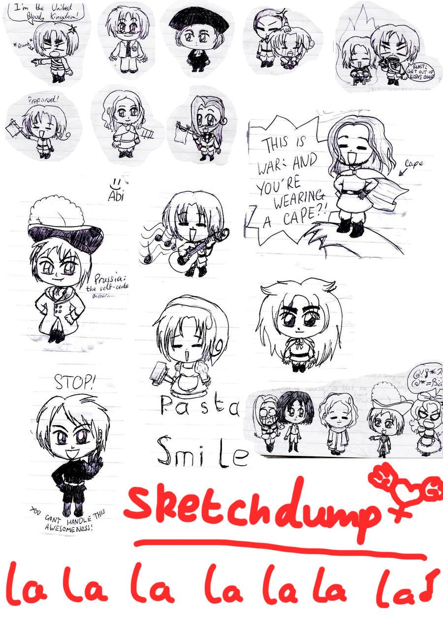Sketch Dump: Hetalia by lillilotus