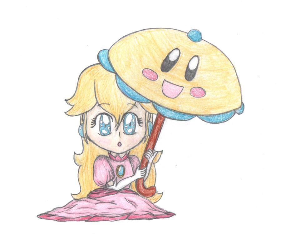 Chibi Super Princess Peach by lillilotus