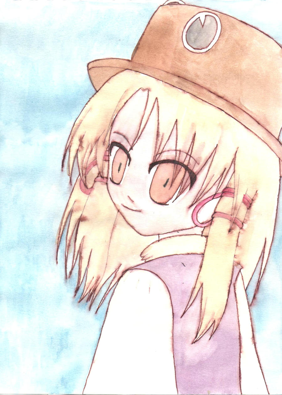 Suwako: Pen And Paint Test by lillilotus