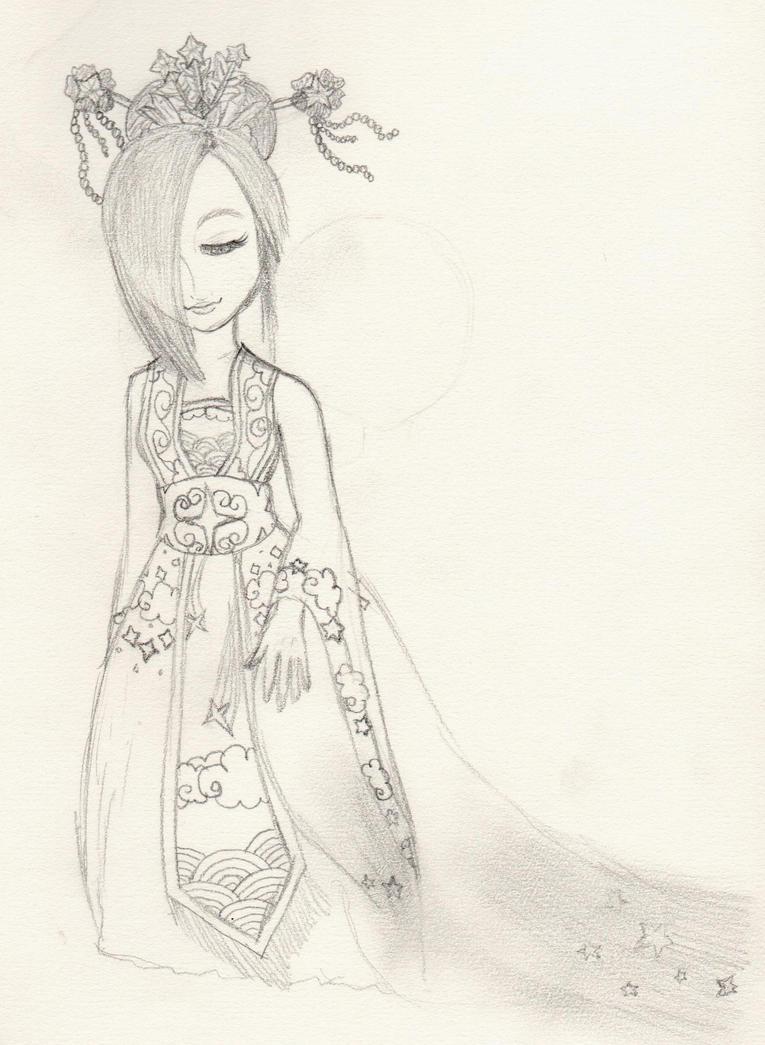 Rosalina: Asia - Lineart by lillilotus