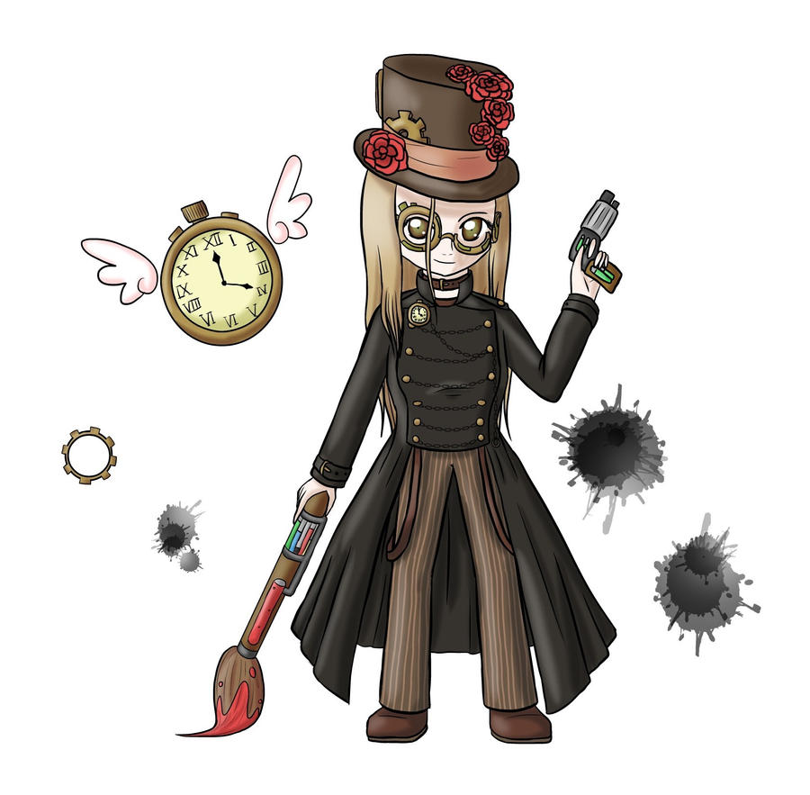 Paint 'n' Pocket Watches by lillilotus