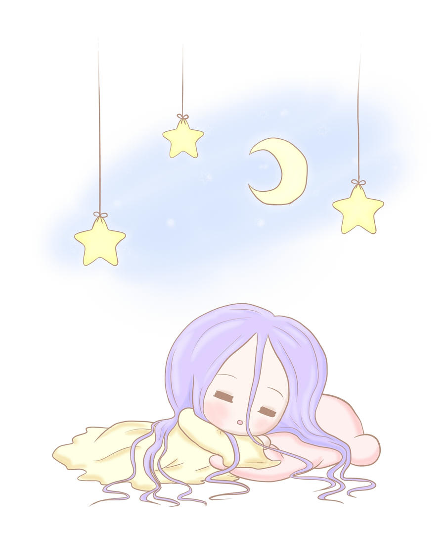 Chibi Night Time by lillilotus