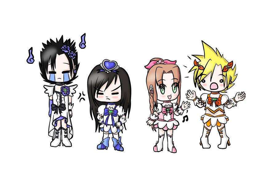 FFVII Cross Over - HeartCatch Pretty Cure by lillilotus