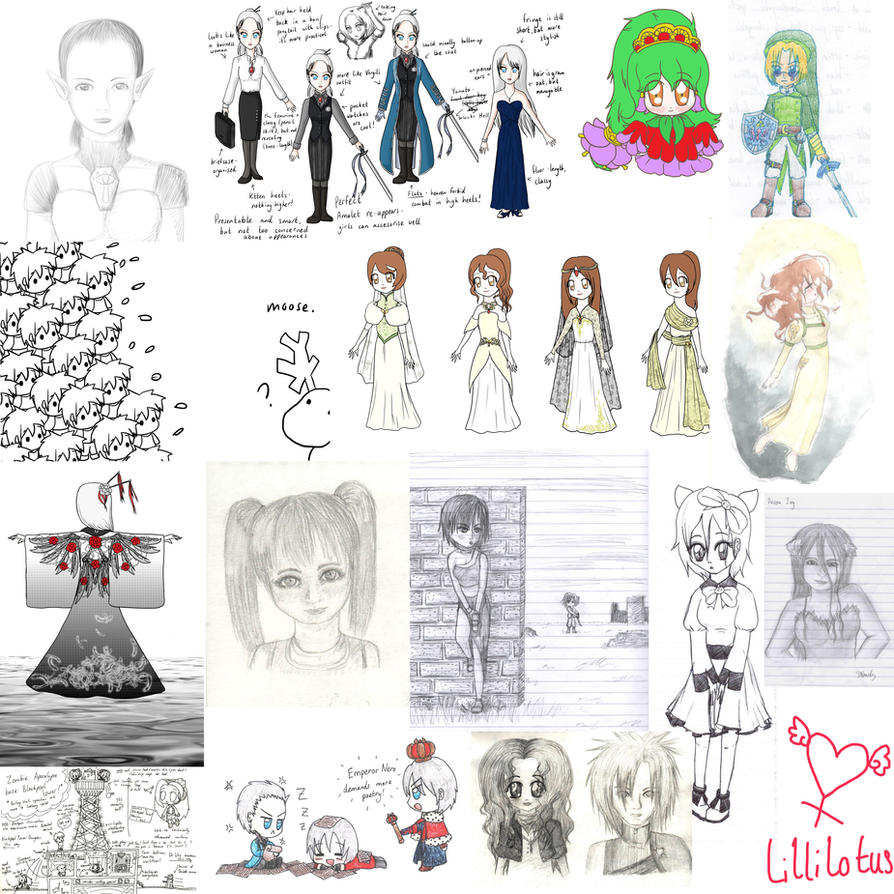 Sketchdump January-June 2013 by lillilotus